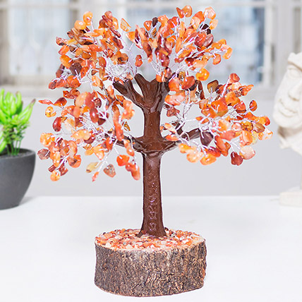 Handcrafted Agate Stone Wish Tree: Rakhi Gifts for Sister