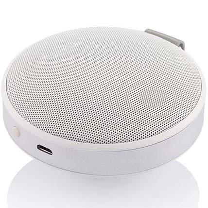 White N Silver Bluetooth Speaker: Travel Accessories