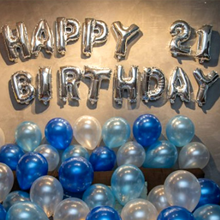 21st Birthday Blue Balloon Decor: Experiential Gifts