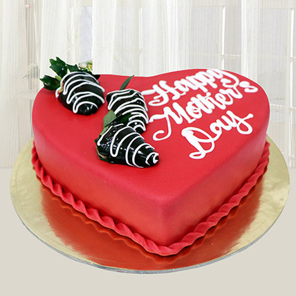 Happy Mothers Day Heart Cake 1 Kg: Mother's Day Gifts