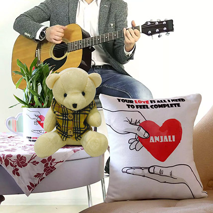 Personalised Musical Gift With Lucky Bamboo: Flowers & Guitarist Service