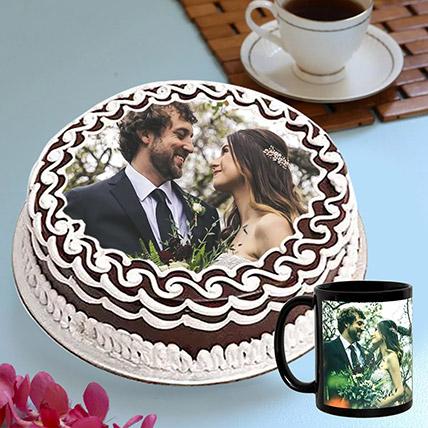 Personalised Chocolate Cake And Mug Combo: