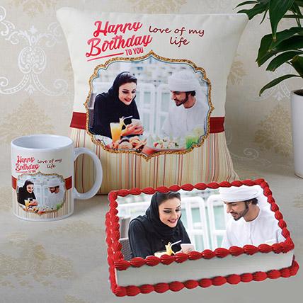 Personalised Cushion Mug And Cake Combo: