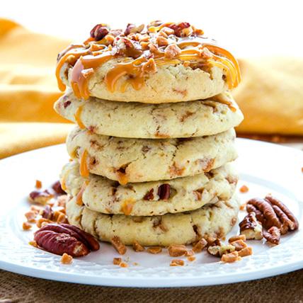 Caramel Pecan cookies: