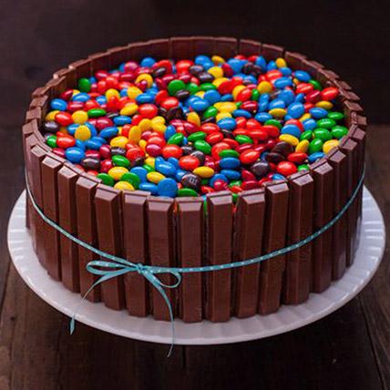 M&M And Kitkat Cake: