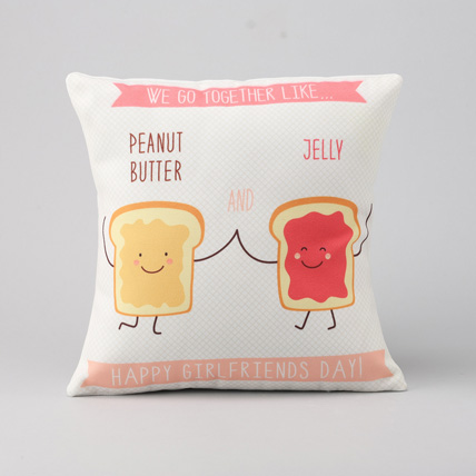 Peanut Butter & Jelly girlfreinds day Printed Cushion: Girlfriends Day Gifts