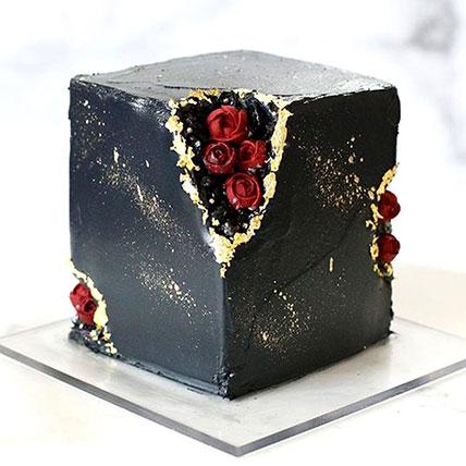 Marble Effect Chocolate Cake 2Kg: Anniversary Designer Cakes