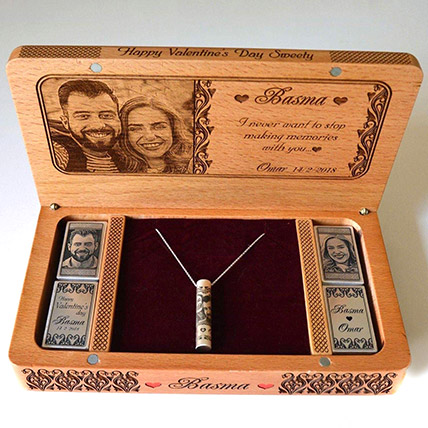 Personalised Engraved Necklace And Box: Birthday Personalised Gifts