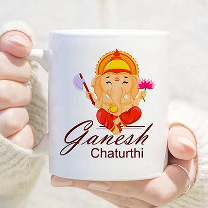 Ganpati Blessings White Mug: