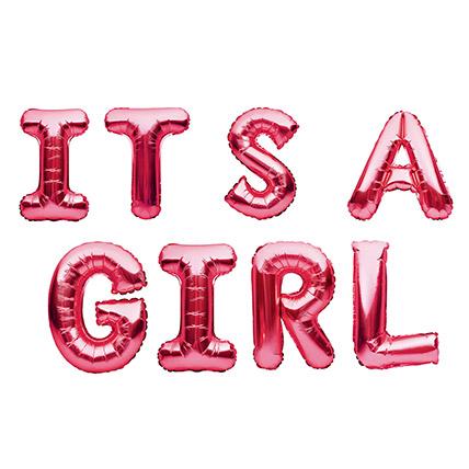 Its a Girl Alphabet Balloon: Baby Gifts in Dubai