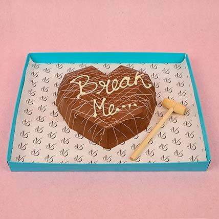 3D Heart Surprise Dessert With Hammer: Best Chocolate in Dubai