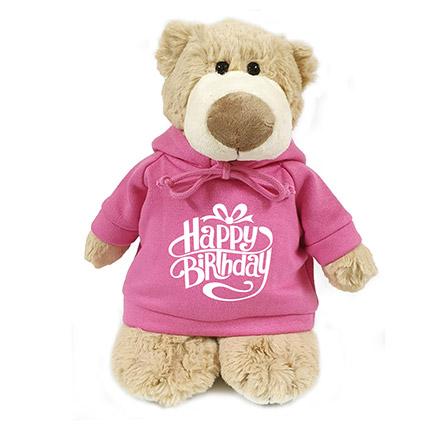 Super Soft Mascot Bear With Birthday Hoodie: