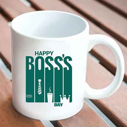 Happy Boss Day White Mug:  Business Gifts