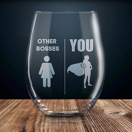 Others & You Engraved Glass: Unique Gifts for Boss