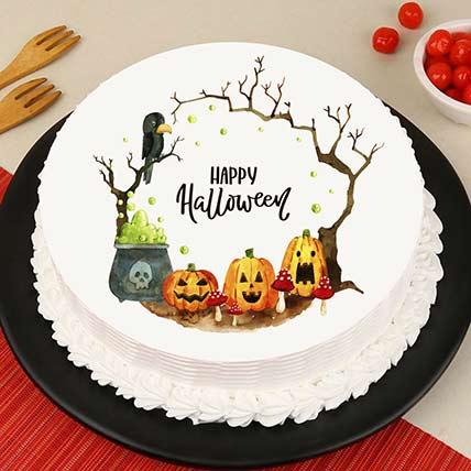 Evil Pumpkin Photo Cake: Halloween Gifts