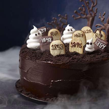 Graveyard Chocolate Cake: Halloween Cakes