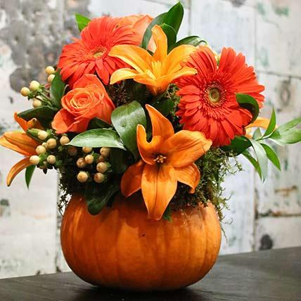 Pumpkin Floral Arrangement: