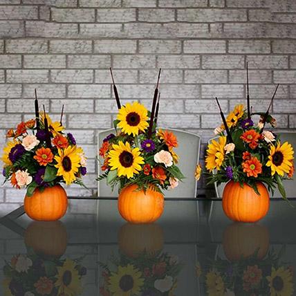 Cheerful Sunflower Table Arrangement Set of 3: