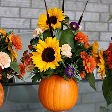 Cheerful Sunflower Table Arrangement: