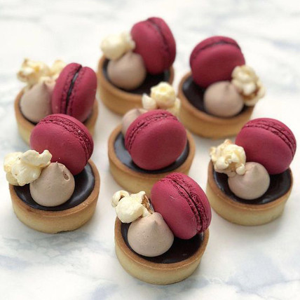 Chocolate Macaroon Mini Tarts Set of 6: New Arrival Gifts
