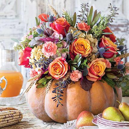 Warm Celebration Mix Flower Arrangement: Thank You Flowers
