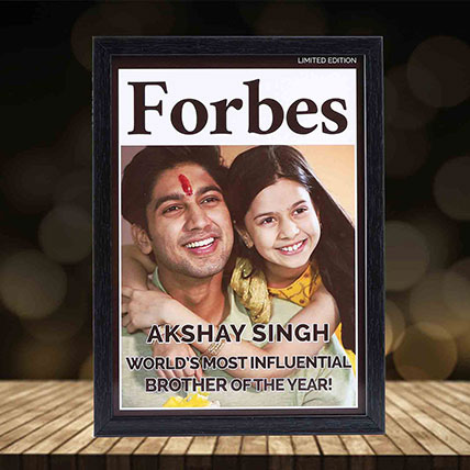 Personalised Brother of the Year Frame: Bhai Dooj Gifts