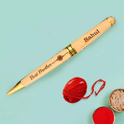 Engraved Pen for Bhaidooj: