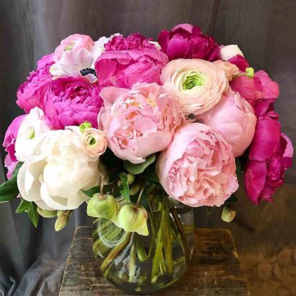 Pink Elegance Vase: Thank You Flowers