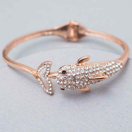 Fish Design Stone Studded Bracelet: