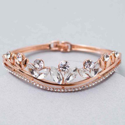 Stone Studded Contemporary Bracelet: Jewellery
