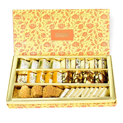 Golden Mix Sweets Box: Diwali Gifts