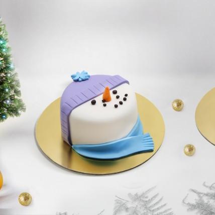 Snow Man Mono Cake: Xmas Cake