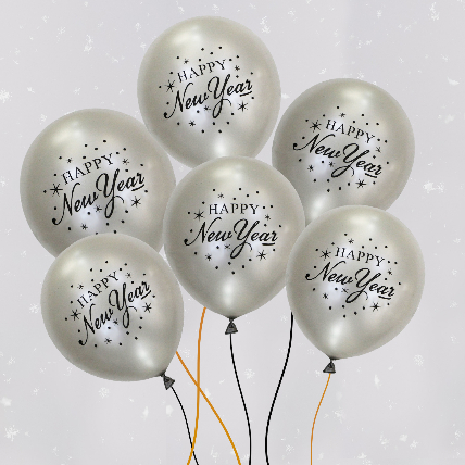 New Year Party with Latex Balloons: New Year Gifts