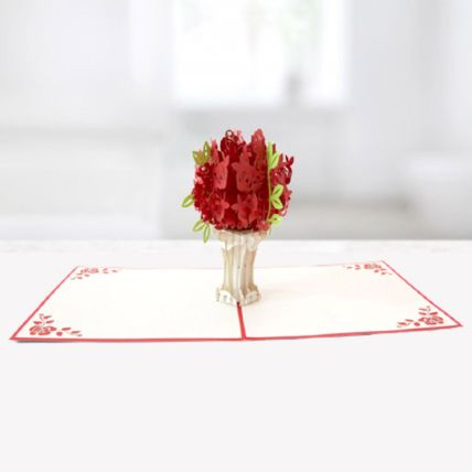 Bouquet of Roses 3D Card: Greeting Cards