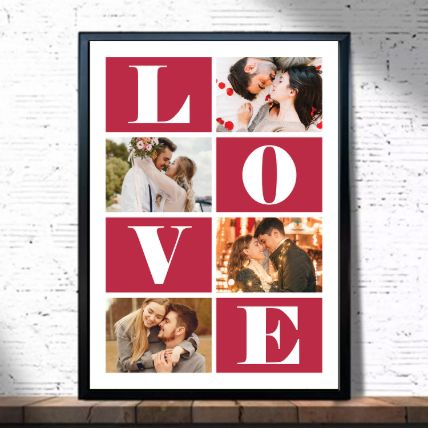 Moments of Love Frame: Personalised Photo Frames