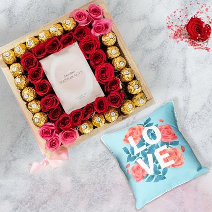Beautiful Pink With Love Cushion: International Women's Day Flowers