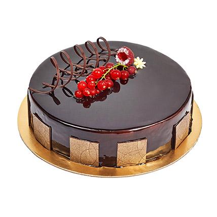 500gm Eggless Chocolate Truffle Cake: Farewell Cakes