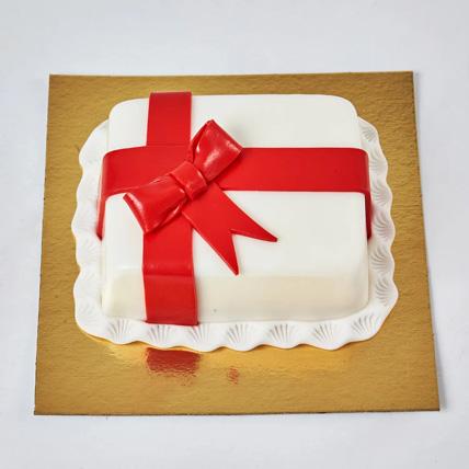 Gift Wrapped Mono Cake: