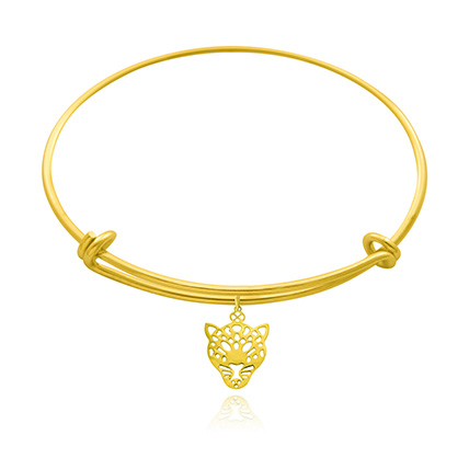 Gold Plated Brass Leopard Bangle: Artificial Jewellery