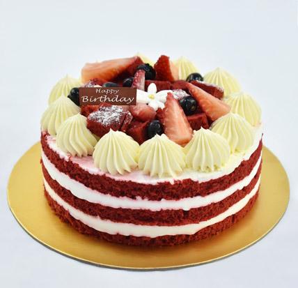 Half Kg Red Velvet Cake For Birthday: Happy Birthday Cakes