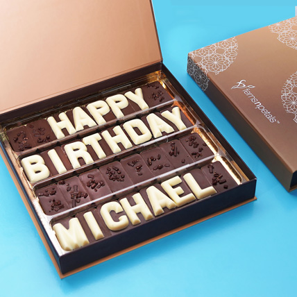 Customized Birthday Chocolate: Personalised Gifts