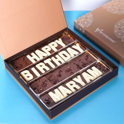 Customized Happy Birthday Chocolate: Same Day Delivery Gifts