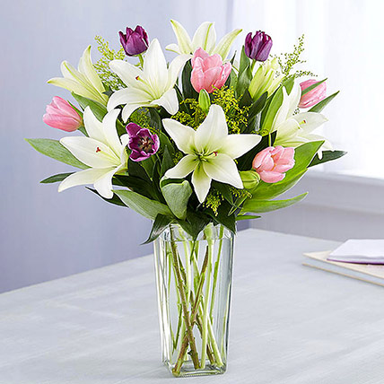 Medley Of Lilies and Tulips: Lilies in Dubai