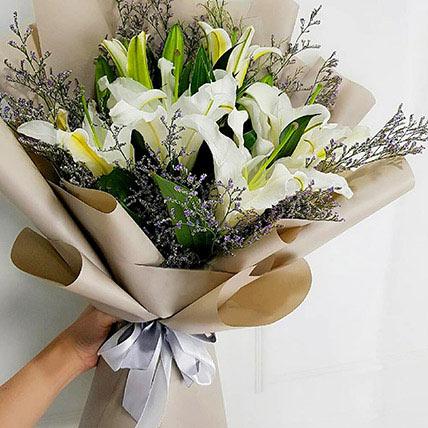 Mini White Lily Bouquet: Lilies in Dubai