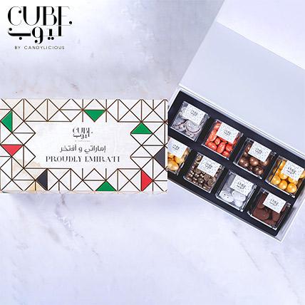 Proudly Emirati Mini 8 Assorted Candy Cubes Gift Box: