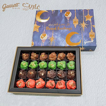 24 Bonbons Garrett Gold Blessed Greetings Gift Box Nuts Selection: