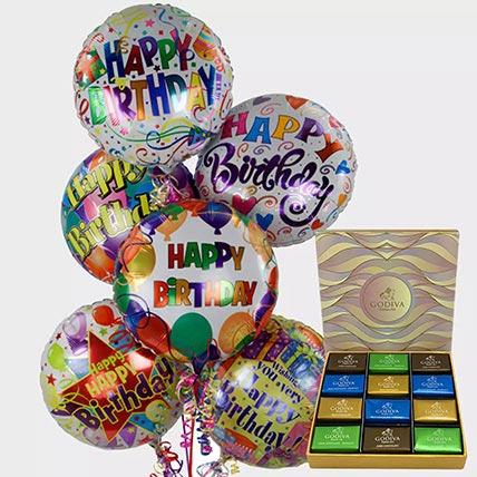 Birthday Balloons and Godiva Chocolates: Gifts Combos