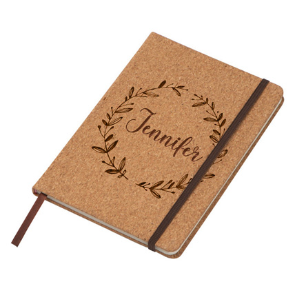 Personalized  A 5 Cork Cover Notebook: Back to School Gifts