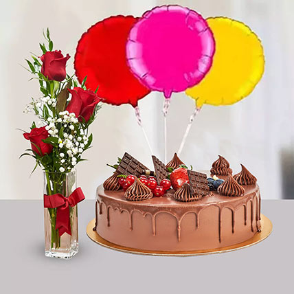 Birthday Surprise Collection: Cake and Flower Delivery in Dubai