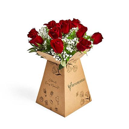 Rose Parfait: Flower in a Box